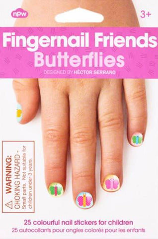 FINGERNAIL FRIENDS NAIL STICKERS 'BUTTERFLIES'