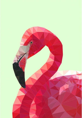 studio cockatoo art print 'flamingo 3' A4