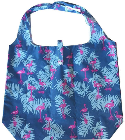 gifted hands shopping bag 'flamingo' blue