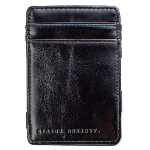 STATUS ANXIETY 'MEN'S FLIP' WALLET BLACK