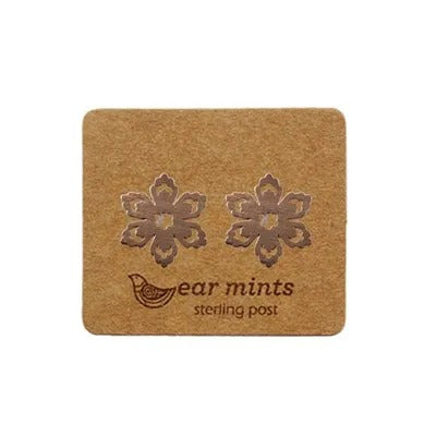 mints earrings 'brushed flower' rose gold