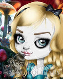 fox & dollbaby art print 'alice in wonderland' with mount