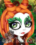 fox & dollbaby art print 'poison ivy' with mount