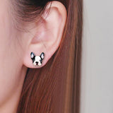 sugar earrings enamel 'frenchie' studs
