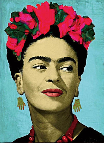 art print 'frida kahlo flower crown' A3 canvas