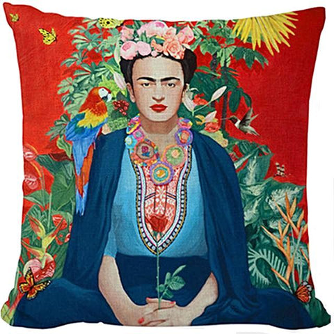 cushion cover 'frida with parrot'