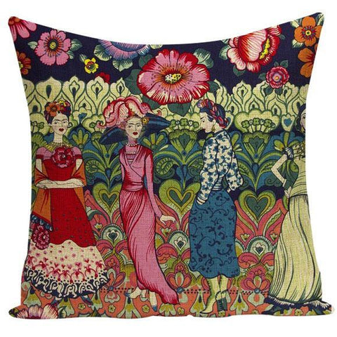 cushion cover 'frida in the garden'