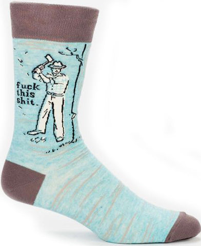 BLUE Q MEN'S SOCKS 'F*CK THIS SH*T'