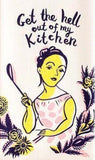 BLUE Q TEA TOWEL 'GET THE HELL OUT OF MY KITCHEN'