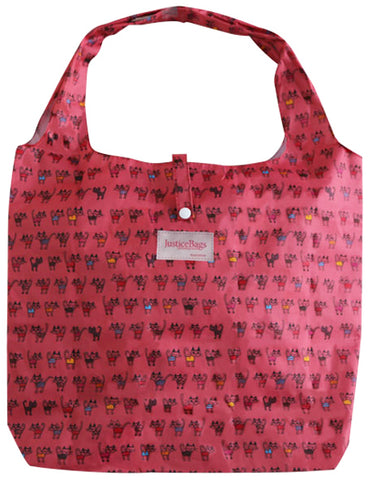 gifted hands shopping bag 'kitty' pink