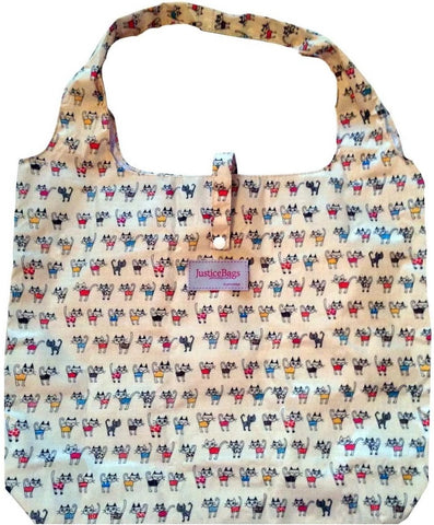 gifted hands shopping bag 'kitty' cream