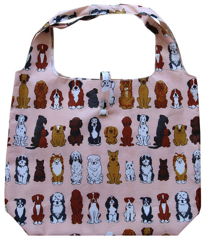 gifted hands shopping bag 'paws' peach