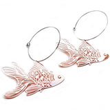 denz & co. earrings 'goldfish hoops' rose gold