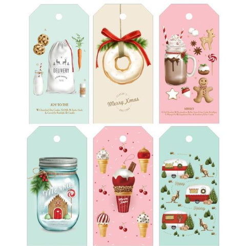 la la land gift card/tag set 'sugar sweet christmas'