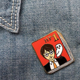 jane mount enamel pin 'hp 1 book 1'