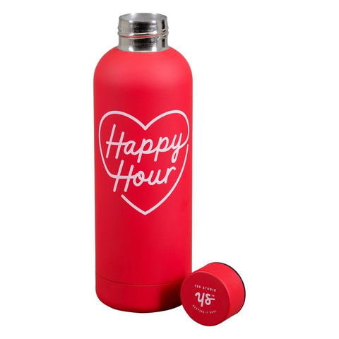 yes studio water bottle 'happy hour'