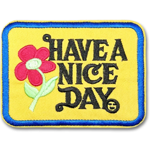 embroidered patch 'have a nice day'