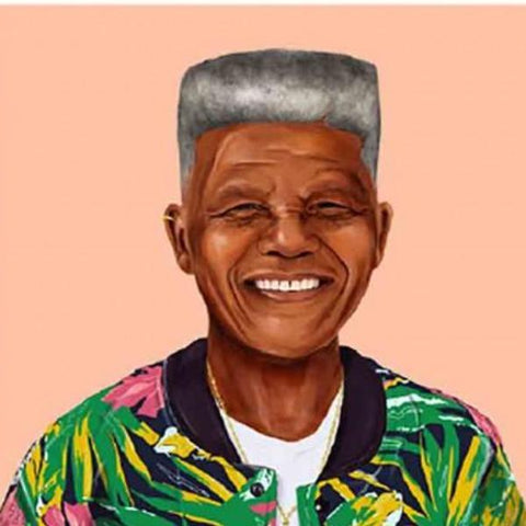 hipstory coaster 'nelson mandela' - the-tangerine-fox