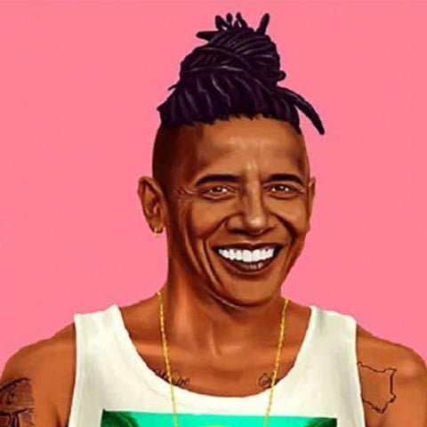 hipstory coaster 'barack obama'