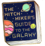 JANE MOUNT 'THE HITCHHIKER'S GUIDE TO THE GALAXY BOOK' ENAMEL PIN