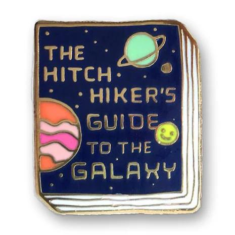 jane mount book pin 'hitchhiker's guide to the galaxy'