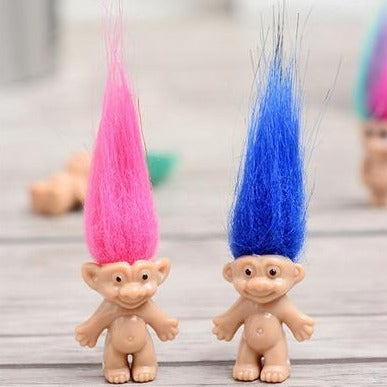 troll doll 'multicoloured hair' 3cm
