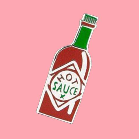 u studio enamel pin 'hot sauce' - the-tangerine-fox
