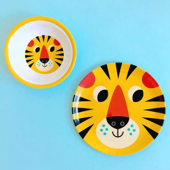 omm design melamine bowl 'tiger face'