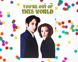 EX-GIRLFRIEND'S REBELLION 'X-FILES' GREETING CARD