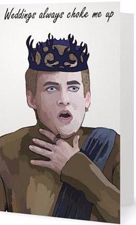ex-girlfriends rebellion greeting card 'joffrey'