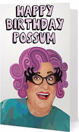 EX-GIRLFRIEND'S REBELLION 'DAME EDNA' GREETING CARD
