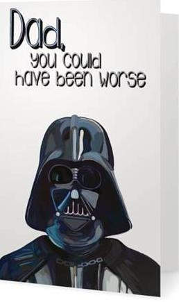 ex-girlfriends rebellion greeting card 'darth vader'