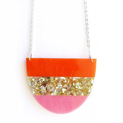 each to own necklace 'yoo split' pink gold orange