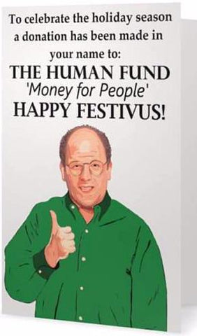 EX-GIRLFRIENDS REBELLION 'FESTIVUS' GREETING CARD