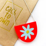 each to own necklace 'flora yoo' neon coral