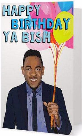 EX-GIRLFRIENDS REBELLION 'KENDRICK LAMAR' GREETING CARD