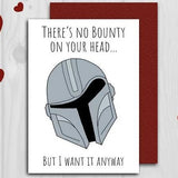 mega ben's doodles greeting card 'bounty on your head'