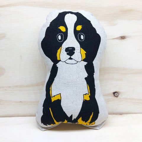 lil leigh designs plush teddy 'mountain dog' black small