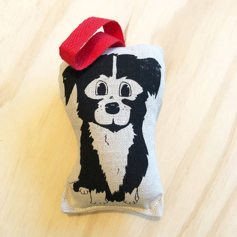 lil leigh designs rattle 'border collie' black