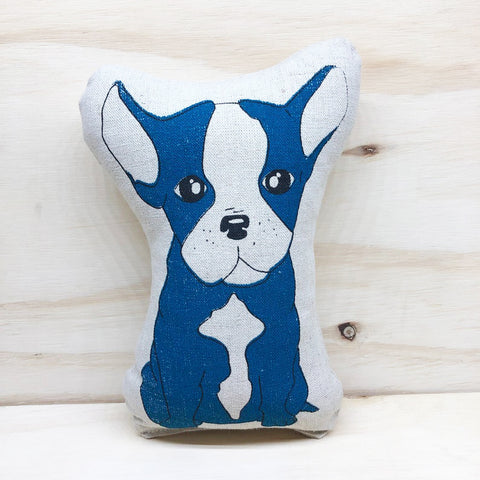 lil leigh designs plush teddy 'french bulldog' turquoise small