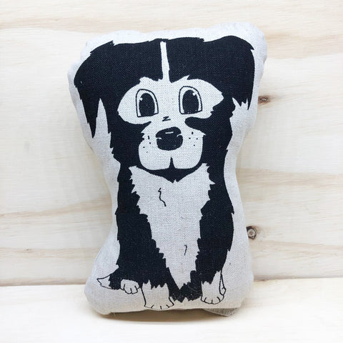 lil leigh designs plush teddy 'border collie' black small