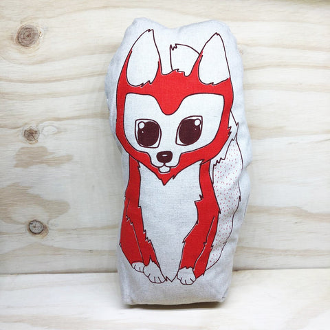 lil leigh designs doorstop 'fox' orange