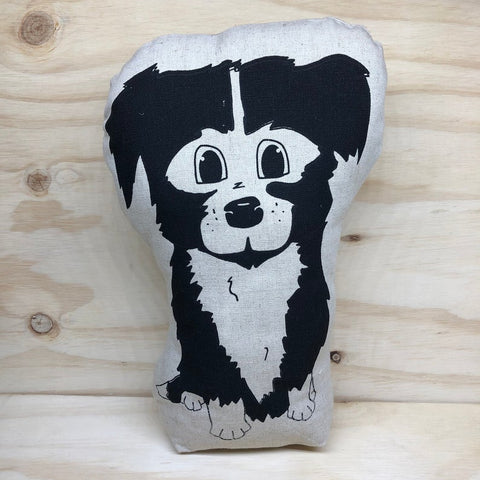 lil leigh designs doorstop 'border collie' black