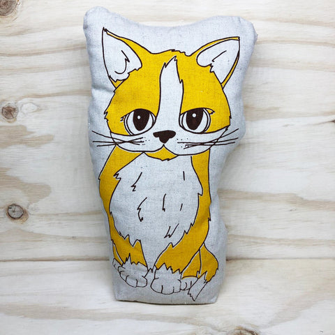lil leigh designs doorstop 'cat' yellow