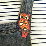 smyle designs brooch 'retro owl'