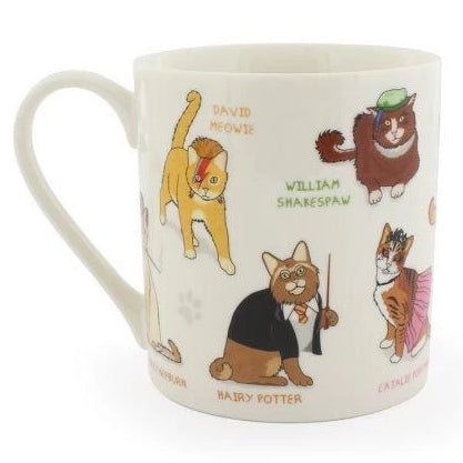 ginger fox mug 'celebri cats' - the-tangerine-fox