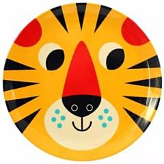 omm design melamine plate 'yellow tiger'