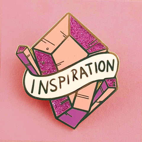 jubly-umph enamel pin 'amethyst of inspiration'