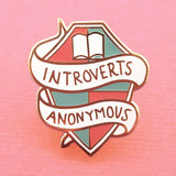 jubly-umph enamel pin 'introverts anon'
