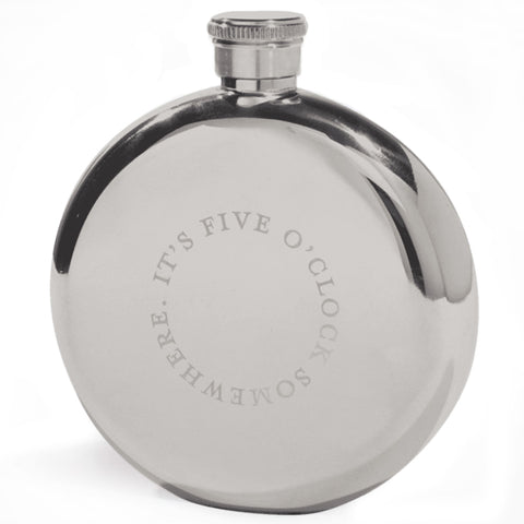 izola hip flask 'five o'clock somewhere' - the-tangerine-fox